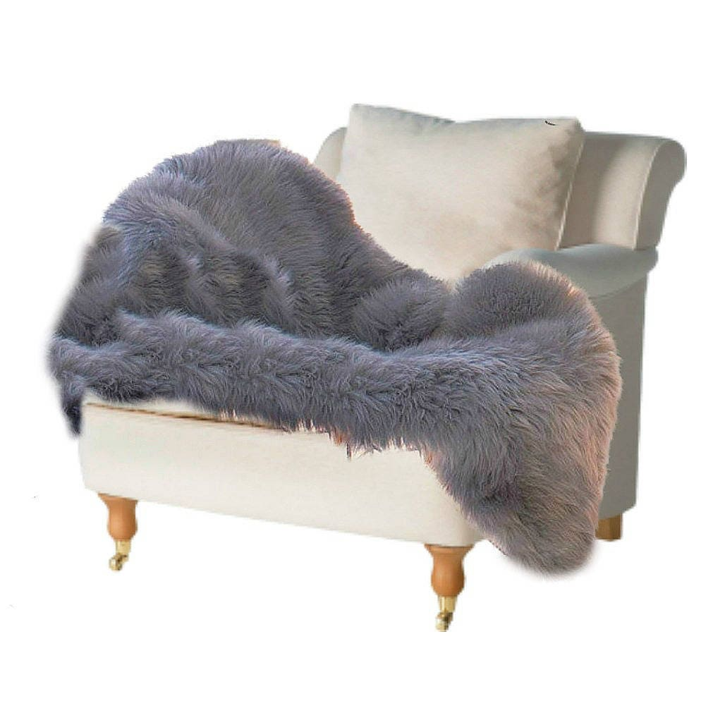 Plush Faux Fur Area Rug Shaggy Thick Single Sheepskin