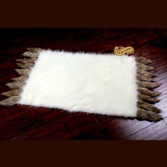 Plush Faux Fur Area Rug Luxury Fur Deer Skin Bear Wolf