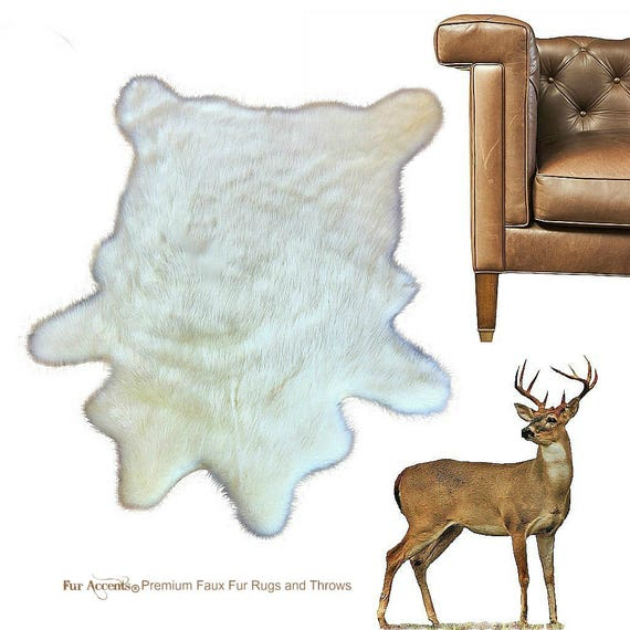 Plush Faux Fur Area Rug Luxury Fur Thick Shaggy Deer Skin
