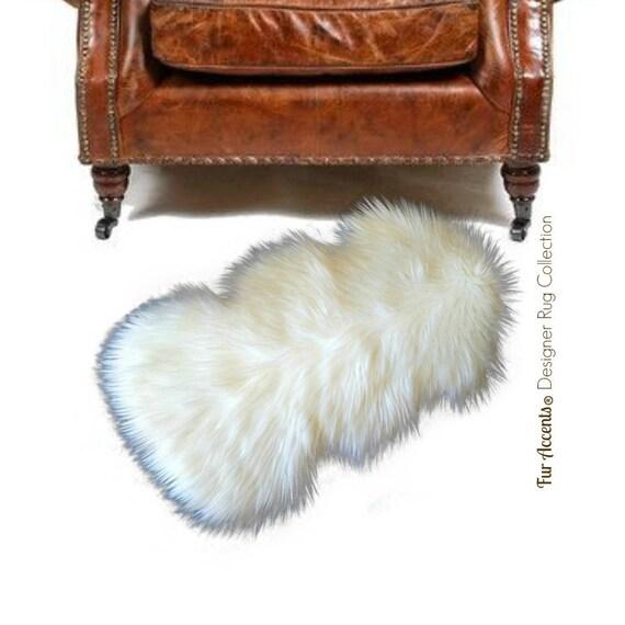 Clearance Plush Faux Fur Accent Rug Mini Throw Shaggy