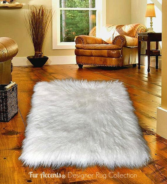 Plush Faux Fur Area Rug Luxury Fur Thick Icelandic