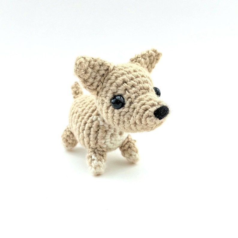 Toy Chihuahua Dog Stuffed Animal- Crochet Amigurumi Miniature Chihuahua Gifts for Girlfriend Gifts for Dog Lovers MADE TO ORDER