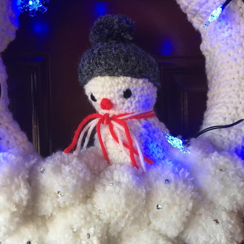 snowman wreath lighted snowman wreath lighted wreath Christmas wreath