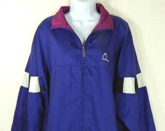 Vintage Head Women's Jacket 80s 90s Size XL X Large Color Block Purple