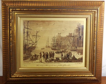 Claude le Lorrain print by, R. Earlom John Boydell Old Vintage Numbered 28 - Turner Manufacturing Company