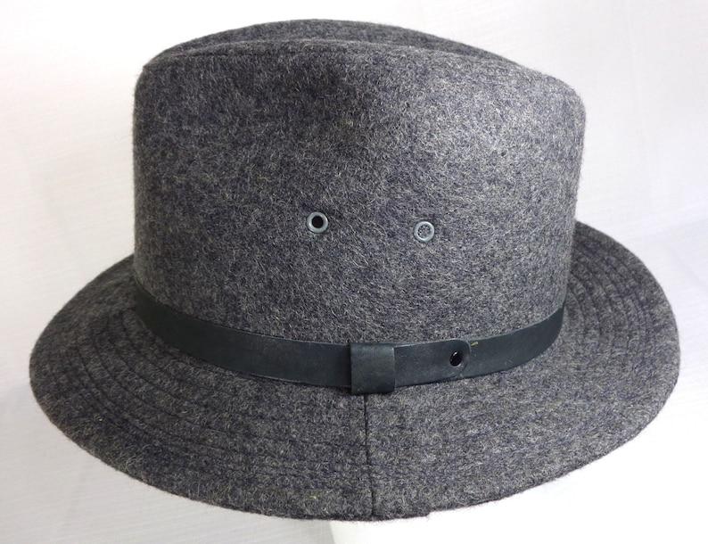 Vintage Woolrich Men s Fedora Hat - Union Made - USA - Gray - Size Medium M  - Vintage Fedora Hat - Vintage Woolrich Fadora 7d93bca39112