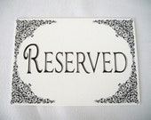 Reserved Cards - Ideal for Wedding Ceremony Pk of 20