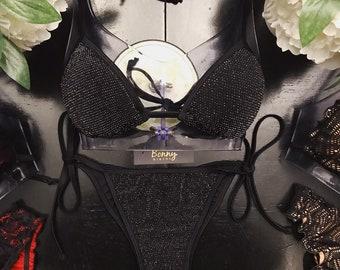 686a6937af504 Black   Silver Shimmer String Bikini