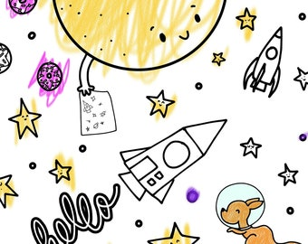 Space Exploration Coloring Pages - Printable PDF Instant Download