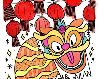 Lunar New Year Coloring Pages - Printable PDF Instant Download