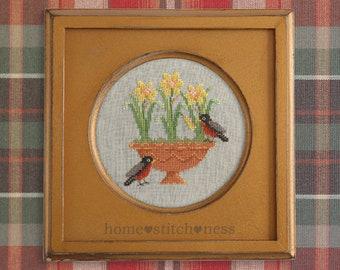 B Flower Patterned Vintage Tea Cup Sampler Cross Stitch Chart