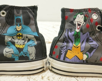 0af7a0c350f071 Converse Junior All Star unisex Black Batman and Joker Shoes size 11