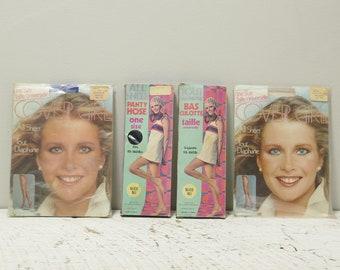 Vintage Cover Girl un tout simple taille collants avec gousset 95-150lbs New Old Stock