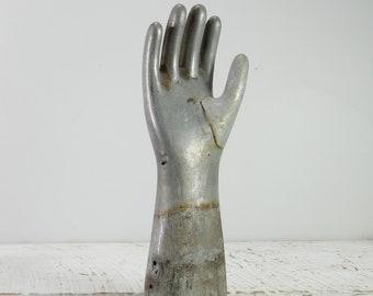 Vintage Industrial Glove Mold Cast Aluminium Decoration