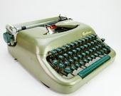 Vintage Typewriter Optima humber 77 Germany Working Green