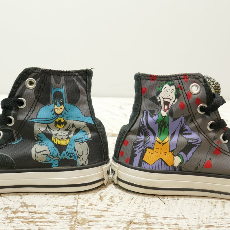 7b77aeb3676a Converse Junior All Star unisex Black Batman and Joker Shoes