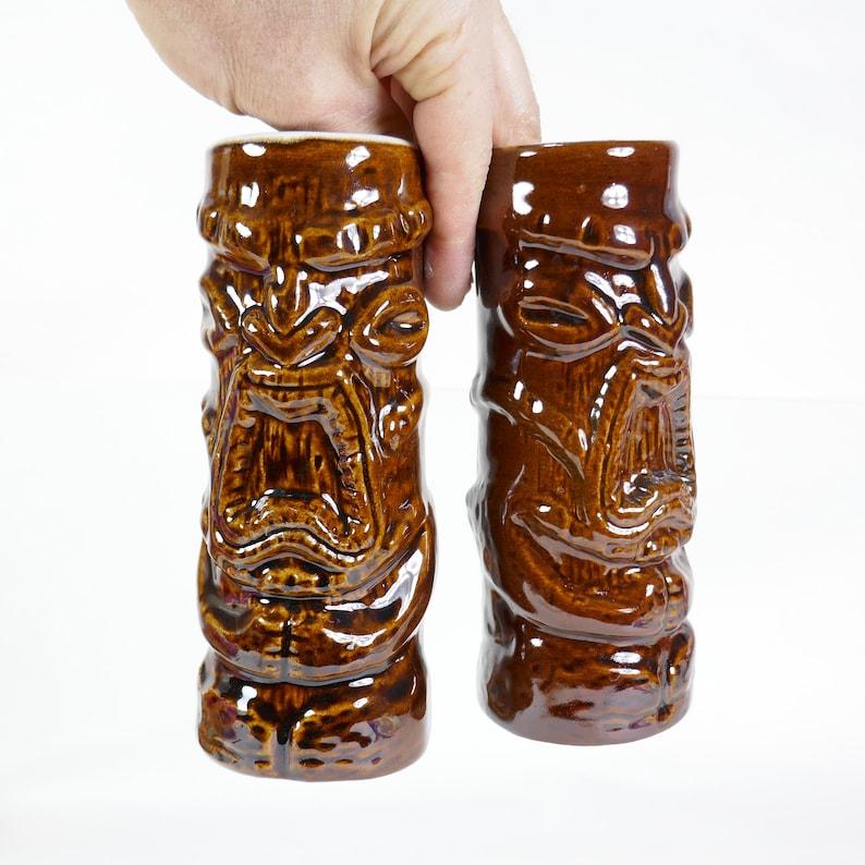 Vintage Set of 2 ceramic Tiki Mug kon tiki montreal sheraton image 0