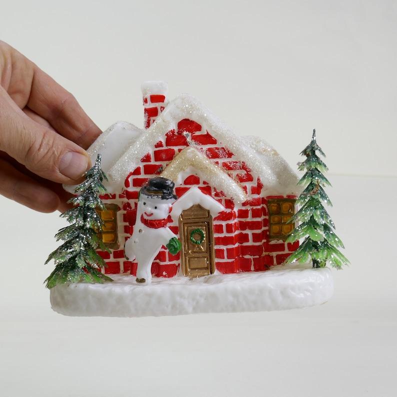 Vintage 1960s snowmen / snowman wall / Centerpiece Cake Topper image 0