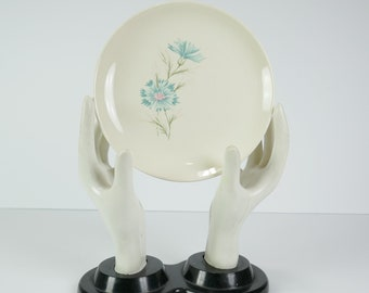Vintage Even Yours Boutonniere Taylor Smith & Taylor Salad Dessert Plate True Underglaze Oven Proof USA