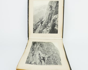 Antique 1890 George  & Ashley Abraham Victorian climbers Scotland pictures Book PHOTOGRAPHS Picture Photo