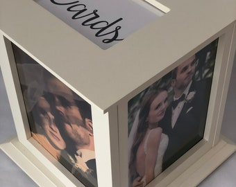 Personalized Off White/Ivory Wedding Card Box Comes With Personalized Print