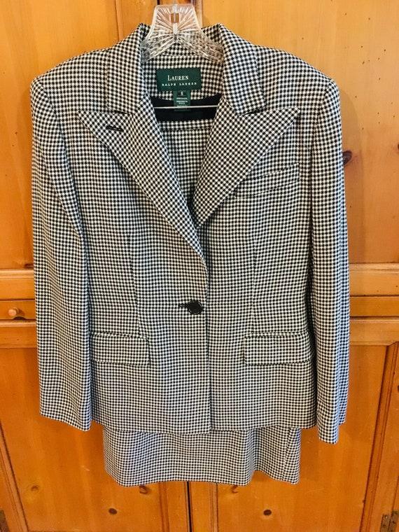 Ralph Lauren Vintage Houndstooth Suit