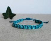 Turquoise and blue Surf Bracelet, minimal modern Friendship Bracelet, everyday waterproof bracelet for boy or girl by Reef Knot co