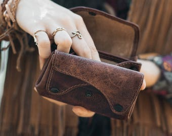 Leather Coin Purse | Card Wallet | leather change purse | Unique Wallets