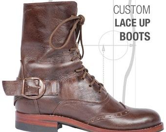 Handmade Custom Leather Women's Boots
