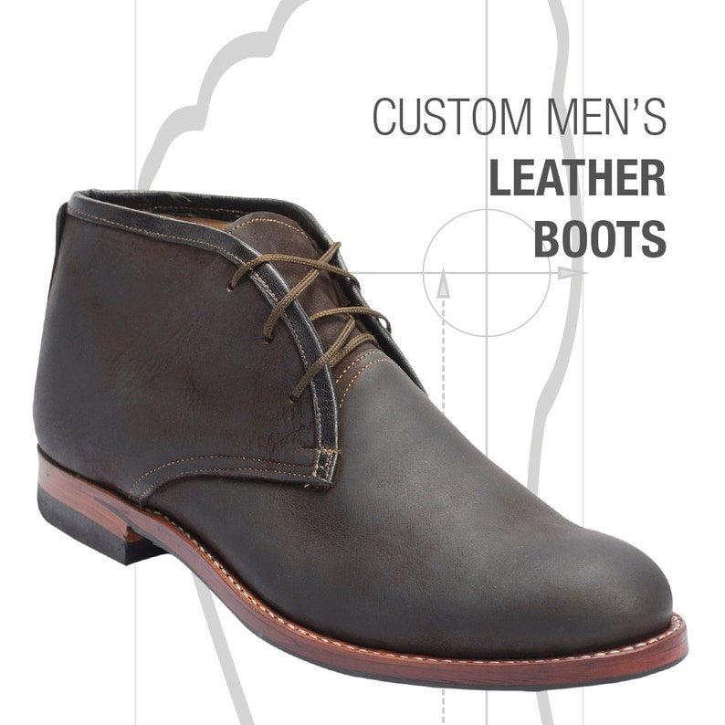 Atitlan Leather Custom Men's Leather Boots Shoes image 1