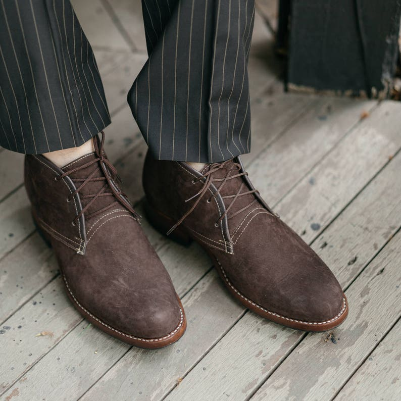 Chukka boots  Leather Chukka  Suede ankle boots  Brown image 0