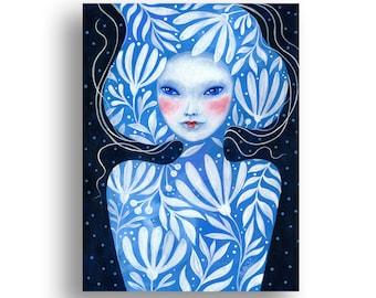 Girl Portrait Original Acrylic Painting  Hand Painted