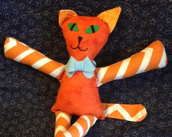 Orange Stripe Cat Doll