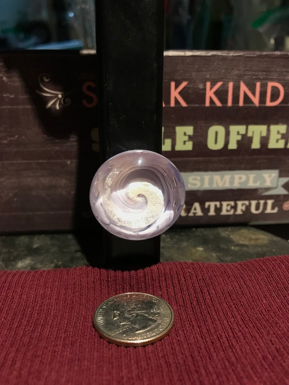 small Glass vortex magnet with glow spiral