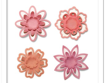 3d flower wall art etsy 3d pop out petals decorating flowers cutting file in svg dxf pdf formats mightylinksfo