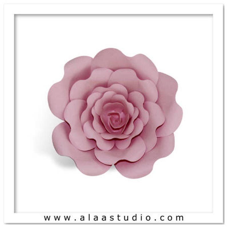 3D Large rose flowers petals Templates cutting file in SVG image 0