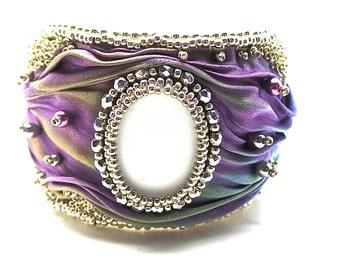 purple bracelet Shibori