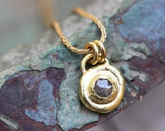 392e1b3b3c2 Solid Gold Necklace, Diamond Necklace, Unique Gold Jewelry, 18k Gold  Pendant Necklace, Yellow Gold Necklace, Yellow Gold Diamond Necklace