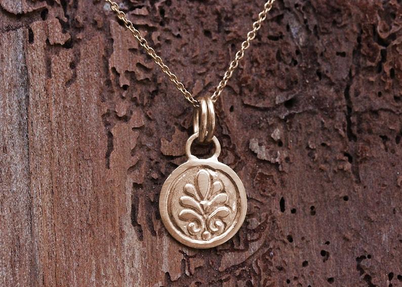 Gold Pendant Necklace Gold Coin Necklace Boho Gold Jewelry Boho Gold Necklace Rose Gold Necklace 14K Gold Necklace 18k Gold Necklace