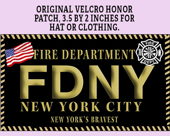 FDNY Fire Department of New York Morale Patch 1 3 1 2 x 2  309f1fc39cd