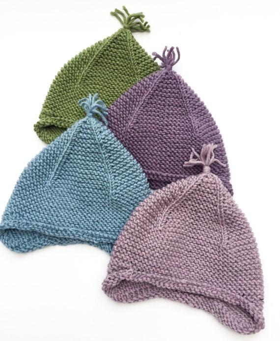4a40e82135f Baby Earflap Hat 6-12 months Merino Wool Hat Tiny Tassel