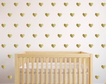 Merveilleux More Colors. Gold Heart Wall Decals ...