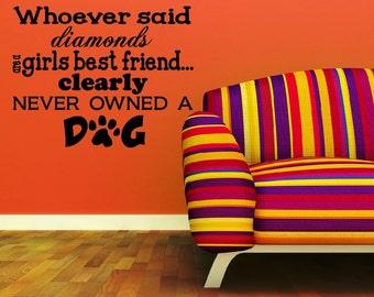Diamonds Dog Quote Etsy