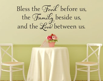 Charmant Bless The Food Before Us Wall Decal   Kitchen Wall Decal   Kitchen Vinyl Wall  Decal   Dining Room Wall Decal   Wall Quotes Decal