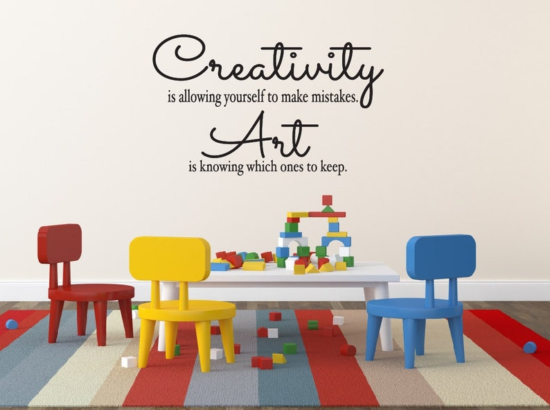 Creativity Is Allowing Yourself To Make Mistakes Childrens Etsy