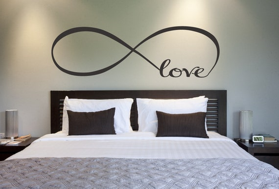 Love Infinity Symbol Bedroom Wall Decal Love Decor Love Etsy