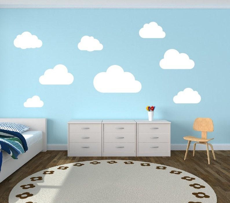 Wolke Wandtattoo Wolken Kinderzimmer Wand Aufkleber-Set von 8 Wolken  Wandtattoo - Kinderzimmer Dekor Kinderzimmer Jugendzimmer Vinyl Wand  Aufkleber ...