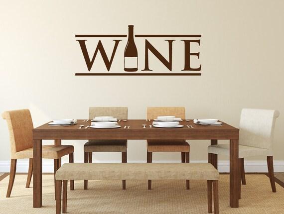 Wine Wall Decal - Kitchen Decor - Wine Decor - Wine Bottle Decal - Home  Decor Kitchen Decal - Wall Decals - Kitchen Sticker - Wall Decor