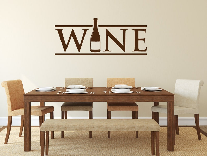 Wine Wall Decal - Kitchen Decor - Wine Decor - Wine Bottle Decal - Home  Decor Kitchen Decal - Wall Decals - Kitchen Sticker - Wall Decor