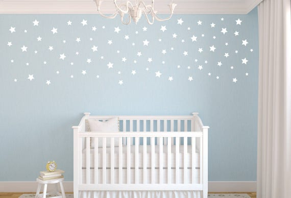 peel and stick decals stars star wall decals nursery wall | etsy